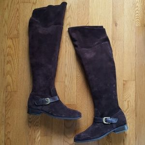 NEW Franco Sarto OTK Suede Fold Down Boots 7